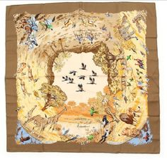 Hermes Scarf Shawl 100% Silk Carre90 Africa NWT Auth #Hermes #Scarf