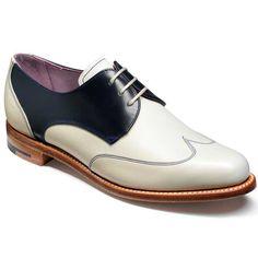 Barker Ladies Shoes – Charlie Wingcap – Navy & Beige