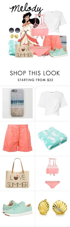 """Melody - Summer / Beach - Disney's The Little Mermaid 2"" by rubytyra ❤ liked on Polyvore featuring T By Alexander Wang, Aspesi, Disney, Style & Co., Cole Haan, Bling Jewelry and Alice + Olivia"