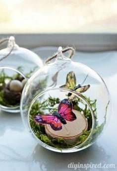 Winter Woodland Butterflies Ornament from @diyinspired