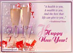happy new year postcard 2017