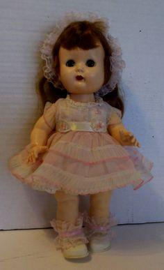 Muffies big sister Debbie She is so adorable in all her ruffles. She is a Nancy Ann walker