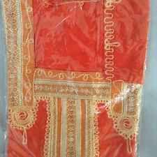 cotton kaftan/abeya/jilbab one size.full length Orange Shade