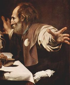 Detail from Supper at Emmaus by Caravaggio