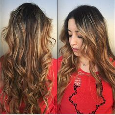 Jill did a full head of balayage to break up her highlights and blend it all throughout her hair for a more natural look.  #balayage #ombre #sombre #hair #hairmelt #haircolour #hairstylist #utahstylist #utahhair #provohair #oremhair #seasonssalonanddayspa #Padgram