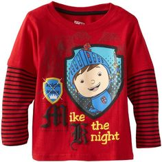 Nickelodeon Little Boys  Mike The Knight 1 Piece Shield Long Sleeve  Pullover 4b519b5b3