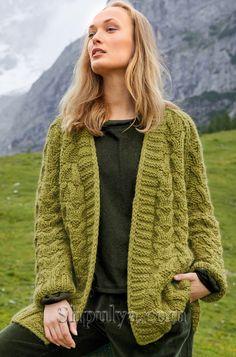 Super crochet jacket plus size cardigan sweaters ideas Chunky Knit Cardigan, Chunky Wool, Sweater Cardigan, Plus Size Cardigans, Cardigans For Women, Crochet Jacket, Knitting Yarn, Lana, Knitwear
