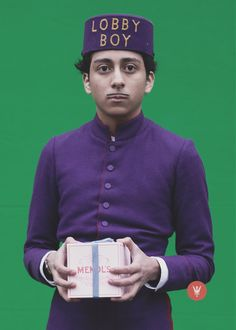 Tony Revolori - The Grand Budapest Hotel (Wes Anderson) great film Film D'animation, Film Stills, Love Movie, Movie Tv, Gran Hotel Budapest, Tony Revolori, Lobby Boy, Wes Anderson Movies, Wes Anderson Characters