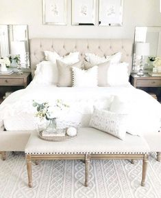 33 The Best White Master Bedroom Design And Decoration Ideas - The master bedroo. - master bedroom ideas - 33 The Best White Master Bedroom Design And Decoration Ideas – The master bedroom is the highligh - Home Decor Bedroom, Modern Bedroom, Bedroom Inspirations, Home Bedroom, Cheap Home Decor, Bedroom Interior, Master Bedroom Design, Bedroom Makeover, Master Bedrooms Decor