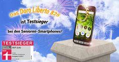 Eine tolle Nachricht: Das Smartphone Doro Liberto 825 ist von der Stiftung Warentest zum Testsieger bei den Senioren-Smartphones gekürt worden!
