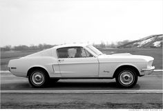 """The Cobra Jet was created to compete against the """"Big Block"""" models from Chrysler and Chevrolet. This car had a 335-horsepower, 428 cubic inch engine. At least that was the official power rating. The real number was said to be higher. At the time, Hot Rod magazine called it """"the fastest regular production sedan ever built."""" #Mustang"""