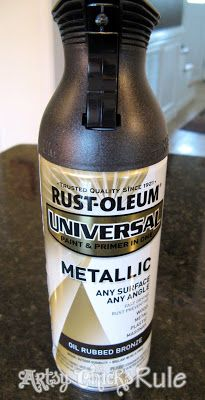Many Uses for Rustoleum Oil Rubbed Bronze (ORB) Spray Paint - Artsy Chicks Rule®