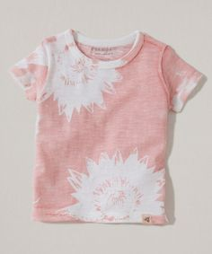 Another great find on #zulily! Petal Pink Negative Flower Organic Tee - Infant, Toddler & Girls #zulilyfinds