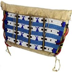 C. 1900 fine beaded on leather Sioux tipi bag
