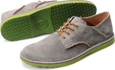 Børn Mens Gleason in Cenere Suede with Green outsole  Featured in Men's Health Magazine!