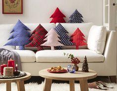 DIY fabric tree pillows by DaWanda.com