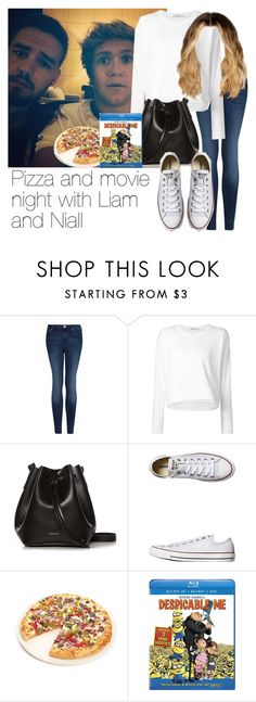 """""""Pizza and movie night with Liam and Niall"""" by style-with-one-direction ❤ liked on Polyvore featuring MANGO, T By Alexander Wang, Rachael Ruddick, Converse, Fox Run, OneDirection, LiamPayne, 1d, NiallHoran and niall horan liam payne one direction 1d"""