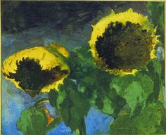 Ripe Sunflowers, 1932, Emil Nolde. German Expressionist Painter (1867 - 1956)
