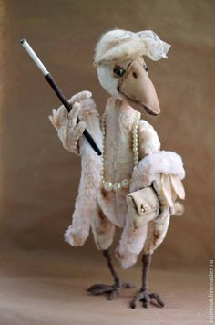 Купить Жизнь удалась!.. - белая ворона, ворона, ворона тедди, ворона из плюша, плюшевая ворона