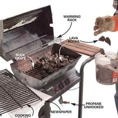 How to fix a gas grill or at least clean one up for the summer grilling season.
