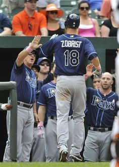 MLB: Tampa Bay Rays 9 (21-14, 8-11 away) Orioles 8 (22-13, 11-8 home) FINAL  Top Performer- B. Zobrist, TAM: 3-4, HR, 3 RBI, 2 R, BB  keepinitrealsports.tumblr.com  keepinitrealsports.wordpress.com