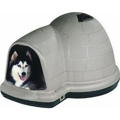 $249.99-$249.99 Petmate Indigo Dog House with Microban, X Large, Taupe Top, Black Bottom - The Petmate Indigo Dog House is the top of the line doghouse featuring an off set extended doorway for wind proofing and rain resistance.  Made with structural foam that acts as insulation both to keep your pet cool in the summer and warm in the winter.  Features a roof vent which helps with continual air f ...