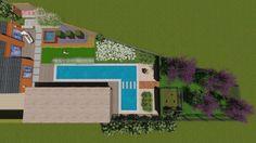 3d tuinontwerp privétuin met zwemvijver