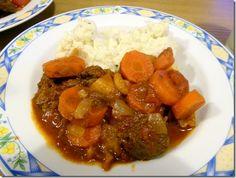 Slow cooked beef tagine and cauli mash