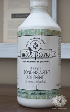 Miss Mustard Seed's Milk Paint Bonding Agent Bonding Agent works exactly like a primer. It's the same idea as using a B-I-N / Zinsser Primer (my fave!) to prepare for your additional coats of paint. Mixing a Bonding Agent into your Milk Paint will help create an even and dependable layer for the additional coats of milk paint bind to.