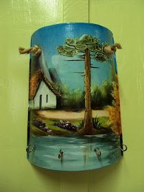 Painted Milk Cans, Painted Wine Bottles, Crewel Embroidery, Embroidery Patterns, Painting On Wood, Artist Painting, Painted Rocks, Hand Painted, Country Scenes