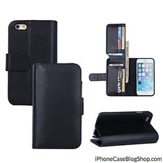 iPhone 6 Plus Case Umiko(TM) Luxury PU Leather 6 Card Slots Magnetic Wallet Stand Flip Case Male Man Black Apple iPhone 6 Plus -Black