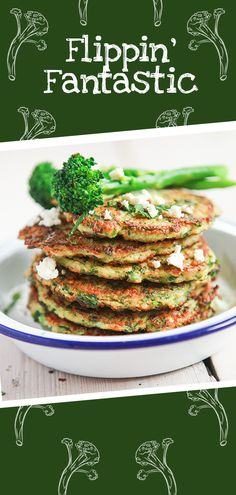 Try a new twist on classic pancakes with this flour-free recipe, with creamy feta, a hint of chilli and Tenderstem® broccoli to add a dose of green goodness. Veggie Recipes, Gourmet Recipes, New Recipes, Vegetarian Recipes, Cooking Recipes, Healthy Recipes, Tapas Recipes, Spanish Recipes, Russian Recipes