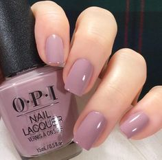 Nails 28 Fall Nail Designs & Color Trends To Copy Right Freakin' Now Mauve Nails, Neutral Nails, Opi Nails, Coffin Nails, Acrylic Nails, Opi Nail Polish Colors, Opi Polish, Nail Color Trends, Fall Nail Colors