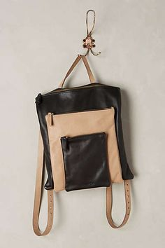 Graded Leather Backpack