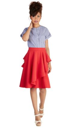 $30 - Size 4X - ModCloth Into the Flamenco Skirt - Shipping Included in Price