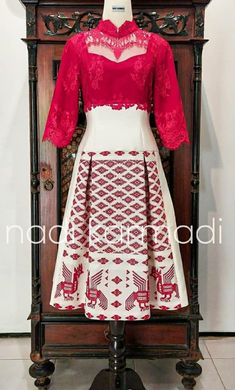 Mode Batik, Waist Skirt, High Waisted Skirt, Brokat, Kebaya, Lace Dress, Dan, Silk, Womens Fashion