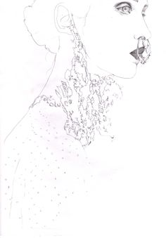 givenchy backstage sketch by elise pellican