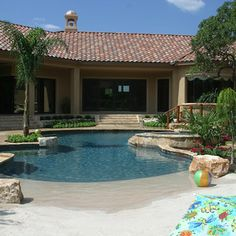 swimming pool design ideas pictures remodel and decor beach entry. beautiful ideas. Home Design Ideas