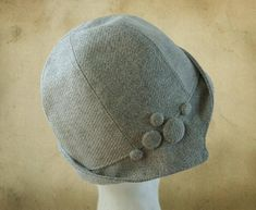 Vintage Sewing Name: 'Sewing : Clementine - Cloche Hat - Sombreros Cloche, Cloche Hats, Sewing Terms, Look Vintage, Turbans, Lining Fabric, Hat Making, Hat Sizes, Hat Patterns