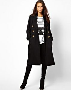 River Island military Midi Coat | reg $157, sale $110 | size 2
