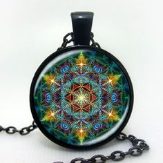 Multicolor Flower of life pendant necklace //Price: $9.00 & FREE Shipping //	  		  #design #lookbook