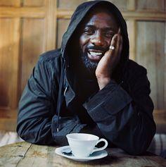 Idris Elba and a cuppa