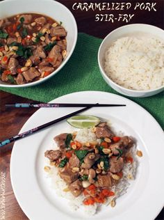 Caramelized Pork Stir Fry | 2CookinMamas Easy and perfect for weeknight dinners!