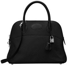 Hermès Fall 2014 Bolide bag in black.