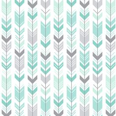 mod baby » herringbone arrows mint fabric by misstiina on Spoonflower - custom fabric