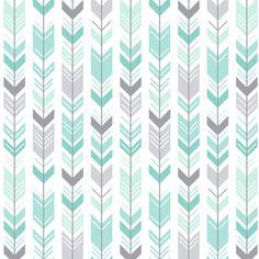 mod baby » herringbone arrows mint fabric by misstiina on Spoonflower - custom fabric