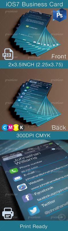 iOS7 Business Card