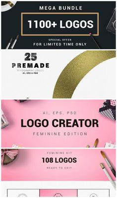 Mega bundle 1100 logos badges blogging print fonts and cards diy mega bundle 1100 logos badges reheart Choice Image