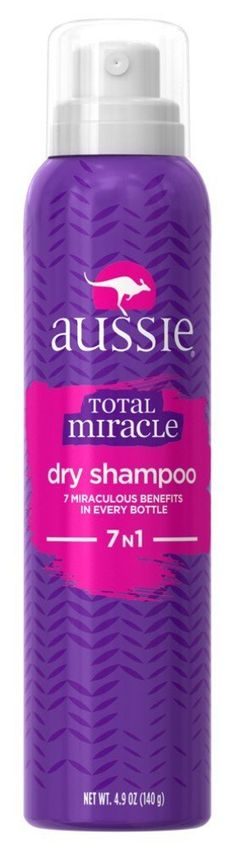Aussie Shampoo Dry Total Miracle Ounce Pack): Miracle Clean In A Can, Lightweight Formula, Protects Color, Matte Finish Hair Shampoo, Dry Shampoo, Shampoo And Conditioner, Hair Care Routine, Face Powder, Packing, Bottle, Image Link, Amazon