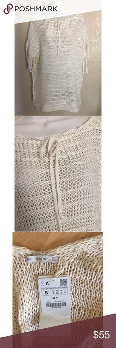 Zara Knit Knitted Cardigan Sweater S Zara Sweaters